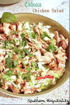 Chinese Chicken Salad this looks delicious for a Summer meal!