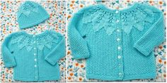 Free Pattern: Baby Cardigan & Hat That's for every mom and all aunts. Save this pattern on your to-list, don't overlook it. Share your final work inour Facebook group Baby Cardigan & Hat –freeknitting pattern ishere.Share your final work inour Facebook group