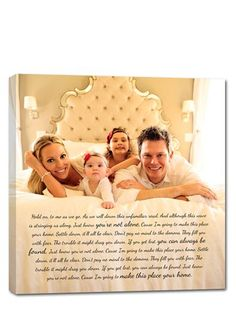 sweet family portrait idea. love the idea of printing on canvas with a story