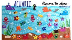 Under the sea Sea Crafts, Diy And Crafts, Crafts For Kids, Paper Crafts, School Board Decoration, Class Decoration, Octopus Crafts, Fish Crafts, Under The Sea Theme