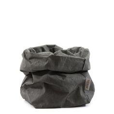 €23 Uashmama paper bag large dark grey Cilla's Lönnrotinkatu 39 Ma-pe 11-18 La 11-16