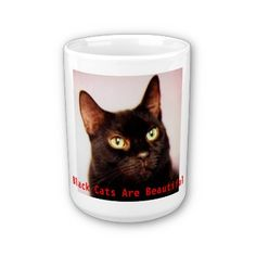 A great mug for the cat lover with the Black Cats Are Beautiful theme and comes in a variety of sizes, from 11 oz to 15 oz and styles, from mugs to steins  Need a Coffee Mug? Here's my Black Cats Are Beautiful themed mug and comes in a variety of sizes and styles. I bought one myself and love it.    http://www.zazzle.com/black_cats_are_beautiful_mug-168372551531551314?gl=PyewacketCreations=238489577766721716