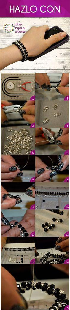 DIY pulsera de cadena