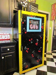 Painted fridge