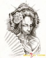 hình xăm geisha 28