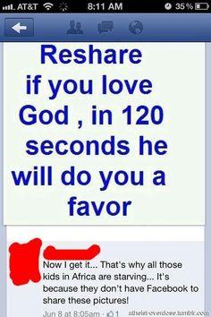 God I love him. I dont need a favor.