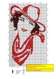 Points de croix *@* cross stitch cow girl