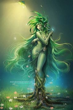 Dryad / fantasy creature / art