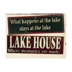 "Cute Gift Idea for the new ""lake home owner"" Lake House Bead Board Sign  Both signs for $38.00"