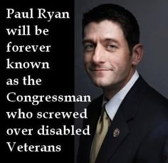 Republicans cuts veteran support but keep billions in corporate subsidies.