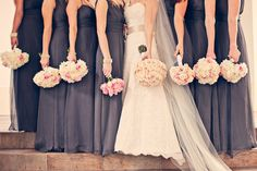 Grey is a chic neutral when paired with most colors!  Weston Hills Country Club Wedding by Teran Photography