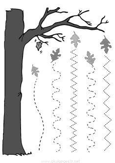 Sonbahar etkinliği çizgi çalışması sayfası, ağaç okul öncesi sonbahar etkinlikleri ve okul öncesi sonbahar çizgi çalışmaları planları sayfaları, sonbahar mevsimi, mevsimleri örnekleri eğitim paylaşma Montessori Activities, Preschool Worksheets, Kindergarten Activities, Preschool Activities, Pre K Worksheets, Forest School Activities, School Ot, Maths Puzzles, Kids And Parenting