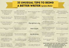 33 Unusual Tips to Being a Better Writer