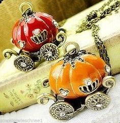 Halskette-Cinderella-Kutsche-Halloween-Vintage-Carriage-Necklace-Fairytale-HC6