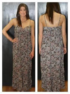 Grey & Mauve Paisley Maxi Dress available at www.smalltowngypsy.com   find us on Facebook!