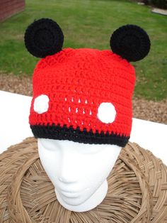 Crochet Boy Beanie Hat  Red with Big Ears and Tail by toppytoppy, $17.99 #handmadeC #HMCApril #bestofetsy #boebot