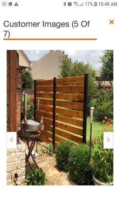 Backyard Seating, Backyard Patio Designs, Backyard Fences, Backyard Landscaping, Patio Fence, Diy Fence, Landscaping Ideas, Fenced In Backyard Ideas, Front Yard Fence Ideas