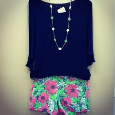 Lilly Callahan Shorts and Navy Nally & Millie top, both summer must haves. Want the shorts do much! Teen Fashion, Fashion Outfits, Womens Fashion, Fashion Ideas, Outfits For Teens, Summer Outfits, Summer Clothes, Winter Outfits, Pretty Outfits