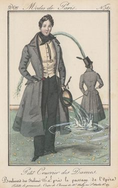 """Françoise Mouly and Genevieve Bormes on Ruth Marten's """"Fountains & Alligators,"""" a collection of altered nineteenth-century French prints. Victorian Mens Clothing, Paper Collage Art, Costume, Fantastic Art, The New Yorker, Conceptual Art, Fashion Plates, Vintage Images, Alligators"""