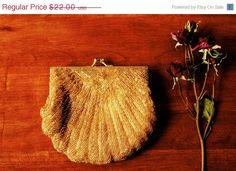 On Sale Vintage 1960s Clutch  Vintage Gold by MothersGardenVintage