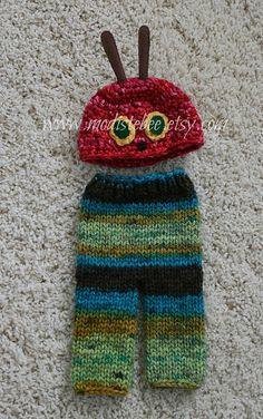 Hungry Caterpillar Hat and Pants Set  Newborn by ModisteBee, $60.00