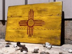 New Mexico State Flag by TwinBarnCo on Etsy, $50.00 for JB's office