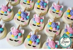 100 Most Popular Cupcakes with Different Flavors Unicorn Cupcakes Cake, Birthday Cupcakes, Cupcake Cakes, Unicorn Cakes, Fondant Cupcakes, Vanilla Cupcakes, Cupcake Toppers, Cupcakes Lindos, Unicorn Themed Birthday