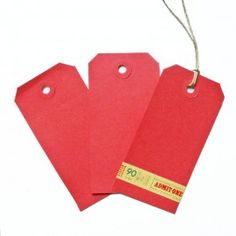 Voor sleutelwensen gasten:  kraft labels (60 x 120 mm) Rood