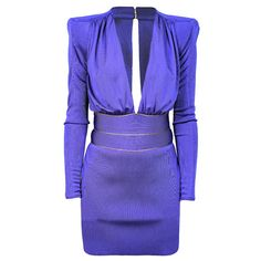BALMAIN Violet Dress found on Polyvore