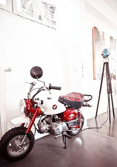 The 18 Most Gentlemanly Man Caves // motorcycle