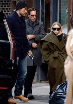 Richard and Ashley out for lunch in Chinatown NYC, March 12 2017. Amazing coat!