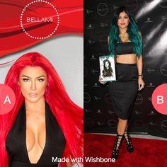 Bellami Eva or Kylie hair? Click here to vote @ http://getwishboneapp.com/share/4929333