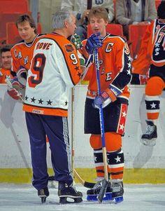 Gordie Howe and Wayne Gretzky | Hockey