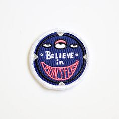 I Believe In Monsters Iron On Patch by strawberrymoth on Etsy