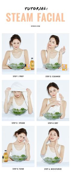 6 steps to the perfect DIY steam facial. | DIY Beauty