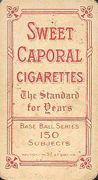 1909-11 The American Tobacco Company T206 White Border #472 Billy Sullivan Back