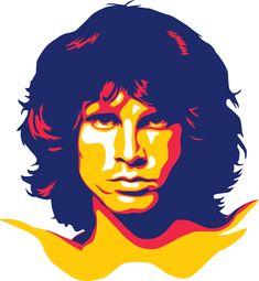 Jim Morrison · The Doors · Music Illustration Vector Art Val Kilmer Jim Morrison, Jim Morrison Beard, Jim Morrison Poster, The Doors Jim Morrison, Caricature, Posca Art, Music Illustration, Vector Portrait, Janis Joplin