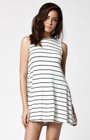 Stripe Knit Swing Dress
