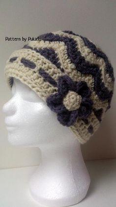 Chevron Winter Hat ... by Pukado | Crocheting Pattern - Looking for a crocheting pattern for your next project? Look no further than Chevron Winter Hat plus Bonus patterns from Pukado! - via @Craftsy