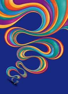 #graphic design #colors #vibrant #curvilinear