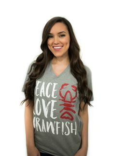 This is our kind of crawfish t-shirt! Cotton/Poly Jersey Unisex Dark Heather Grey Sizing Small - Medium - Large - Extra Large - (model has on a small) © SFT, LLC Crawfish Pie, Crawfish Season, Louisiana Crawfish, Shrimp Boil Party, Fishing T Shirts, Weekend Wear, Girly Things, Peace And Love, Silhouette Files