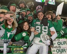 Chris Getzlaf celebrates with rider fans after Grey cup win.