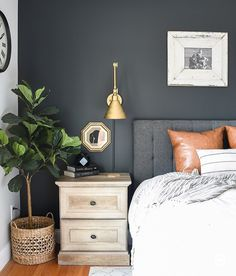 Modern farmhouse style combines the typical with the brand-new makes any space super relaxing. Discover best rustic farmhouse bedroom decoration ideas and also layout suggestions. Guest Bedroom Decor, Cozy Bedroom, Bedroom Ideas, Bedroom Bed, White Bedroom, Modern Farmhouse Bedroom, Modern Bedroom, Rustic Farmhouse, Farmhouse Style