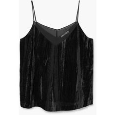 Velvet Top (£9.99) ❤ liked on Polyvore featuring tops, v neck tank, velvet tank, v-neck tank, mango tank top and mango tops