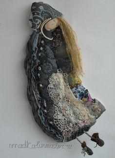 Коллекционные куклы ручной работы. Ярмарка Мастеров - ручная работа спящая красавица или сон рукодельницы №1. Handmade.