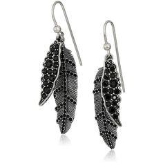 "Marc Jacobs ""Fall 2016"" Dark Plumes Drop Earrings (6.365 RUB) ❤ liked on Polyvore featuring jewelry, earrings, antique silver jewellery, marc jacobs earrings, dark jewelry, marc jacobs jewellery and antique silver earrings"