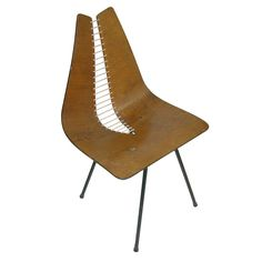 Carl Wood Organic Design Chair | From a unique collection of antique and modern slipper chairs at http://www.1stdibs.com/furniture/seating/slipper-chairs/