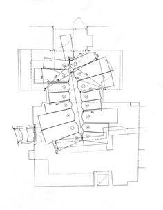 Kleines Café, Plan: Hermann Czech Floor Plans, How To Plan, Drawings, Architecture Visualization, Sketches, Draw, Drawing, Floor Plan Drawing, Pictures