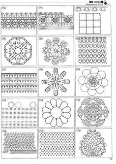 Beautiful and more crochet pattern ~ make handmade - handmade - handicraft Filet Crochet, Crochet Stitches Chart, Crochet Motif Patterns, Freeform Crochet, Crochet Designs, Crochet Gratis, Block Patterns, Irish Crochet, Granny Square Crochet Pattern