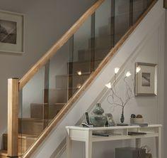 Interior Stair Railing, Stair Railing Design, Home Stairs Design, Glass Stairs Design, Modern Stair Railing, Glass Stair Railing, Modern Stairs Design, Glass Bannister, Indoor Railing